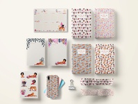 The girl and the tiger stationery set