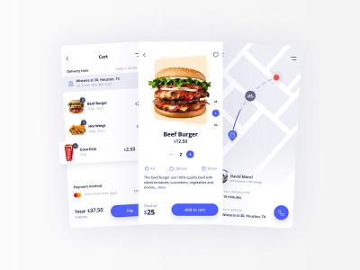 Food Delivery App ux  ui ux design assets ressources branding ux mobile app design food delivery design app ui ui design app design