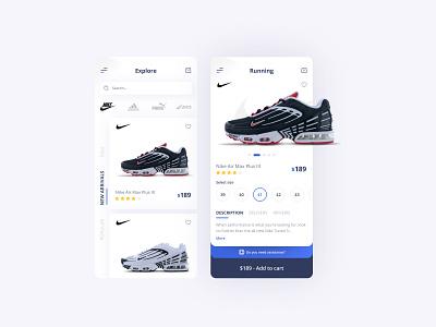 Sneakers Shop App shopping app mobile app design mobile design store app store shoes app shoes ux app design app ui design ui