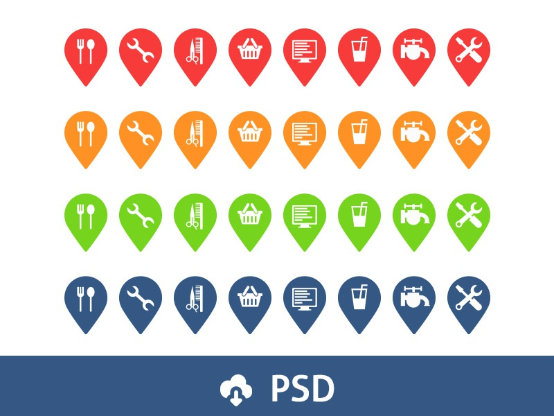 Free Pin-icons pin pins icons location map
