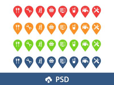 Free Pin-icons