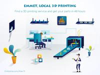 Emmet 3d Printing illustration