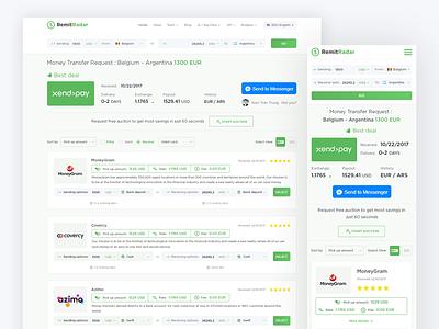 RemitRadar system redesigning converter moneyexchange moneytransfer remitradar money