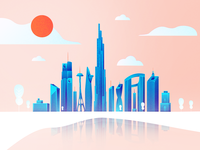 Vietnam Skyline Illustration