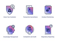 Compliance Lifecycle Icon Set