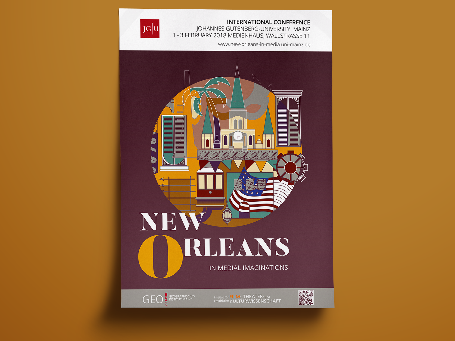 Poster New Orleans shapes colorful new orleans town poster illustrator illustration graphic  design graphic art design