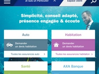 Axa MOBILE absolute homepage {#1}