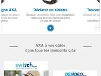Axa MOBILE absolute homepage {#2}