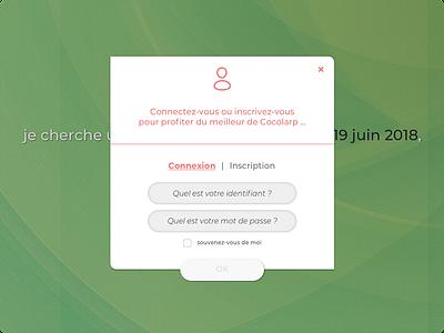 Cocolarp v.2 {WIP #4} popin register connexion website webdesign desktop