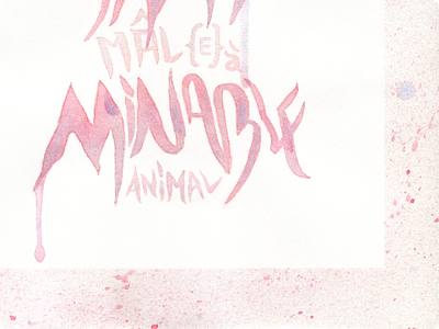 Amimâle {FINAL} watercolor french words red pun handwriting calligraphy