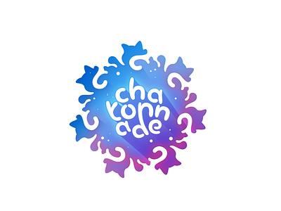 Nebula purple magenta blue outerspace branding vector logo