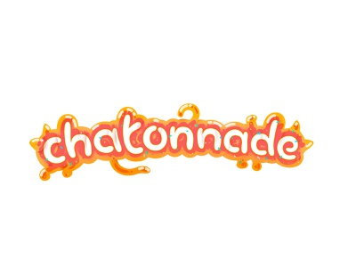 Jelly blob kitten candy jelly shadows orange vector logo