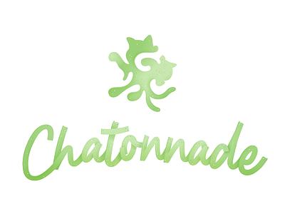 cuddle manual font sans-serif sparkles green cat logo vector
