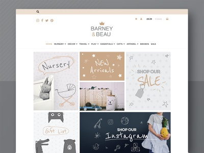 Website Design design ui ux typography logo design illustration brand identity ecommerce kids web design website development website design branding barney and beau