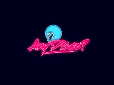 Branding disco music house music neon disco music vector typography logo design logo illustration design branding design branding agency branding brand identity