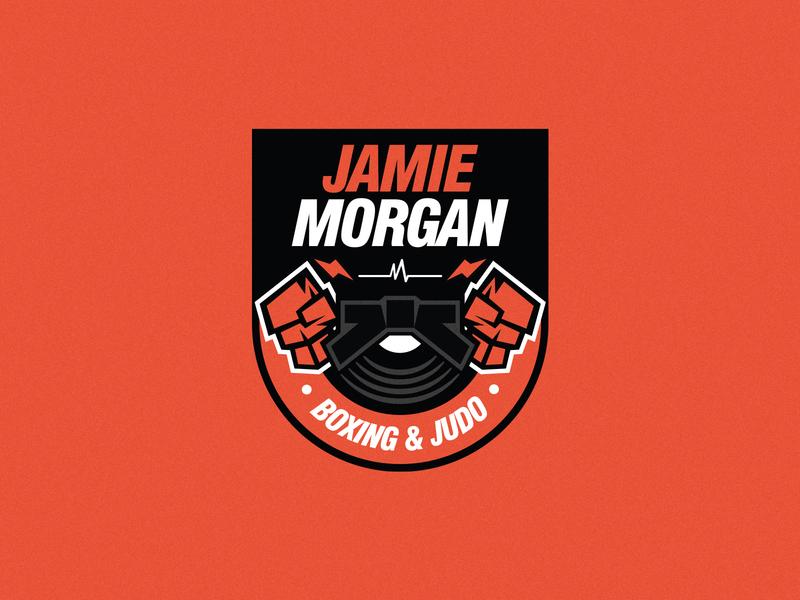 Branding trainer training logo design badge illustration vinyl music martial arts judo boxing fitness branding logo
