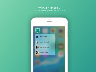 WhatsApp Concept Redesign 2016 interface design redesign concept whatsapp ui app mobile