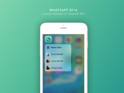 WhatsApp Concept Redesign 2016 interface design redesign concept whatsapp ui app mobile