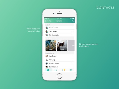 WhatsApp Contacts Feature interface design redesign concept whatsapp ui app mobile