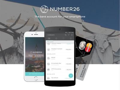 NUMBER26 mobile app banking credit card bank design user interface startup berlin number26 ui app mobile