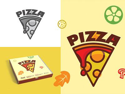 Pizza Package | Illustration Design clean packaging box design pizza illustration art pizza box typography branding vector icon color illustration minimal