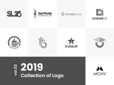 Logo Collection vol.01 | 2019 logocollection branding and identity logotype collection typography vector branding icon logo illustration minimal