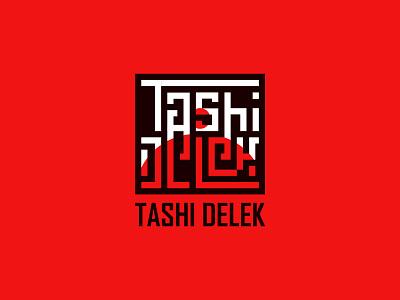 Tashi Delek hotel tibet symbol buddhist typogaphy red logotype nepal knot endless tashidelek food restaurant meal tibetan branding icon logo illustration minimal