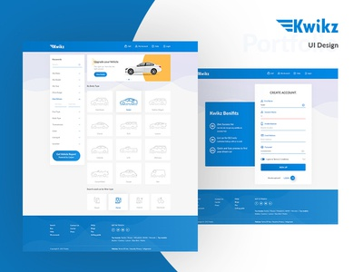 Kwikz - Home & Sign Up Screen
