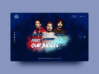 Battle of the Bands Nepal - Website Design Concept