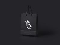 TrendyStylize Illustration Logo - Dark Shopping Bag Mockup