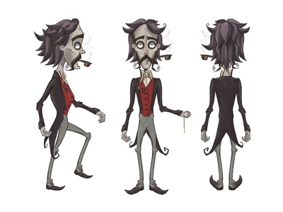 Development of character for the game