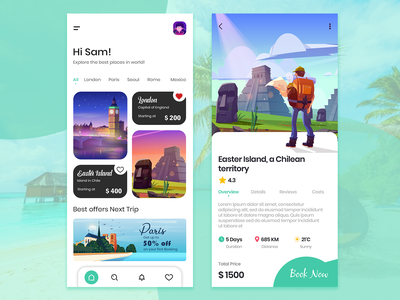 Travel Mobile App Design travel app ui