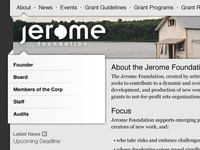 Jerome Foundation concept