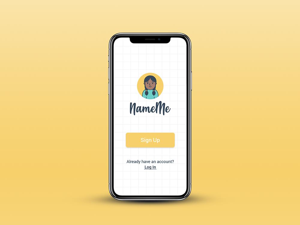 NameMe app product design ux design ui ux app design