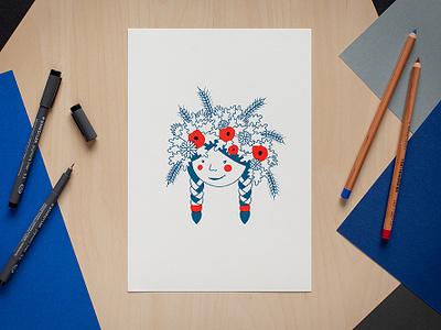 Tautumeita latvia screen print illustration