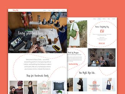 Story Dots retail ethical fashion fashion digital design web design