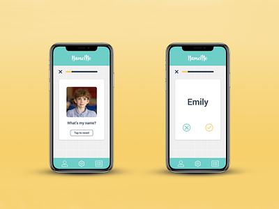 Name Me app memory education app product design ux ux design