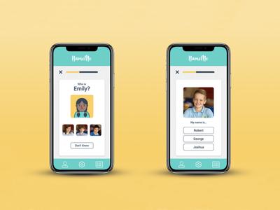 NameMe app memory education app product design ux design ux