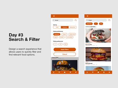 Om Nom: Day 3 ux ui ux design food design daily creative challenge app design adobe xd challenge adobe xd