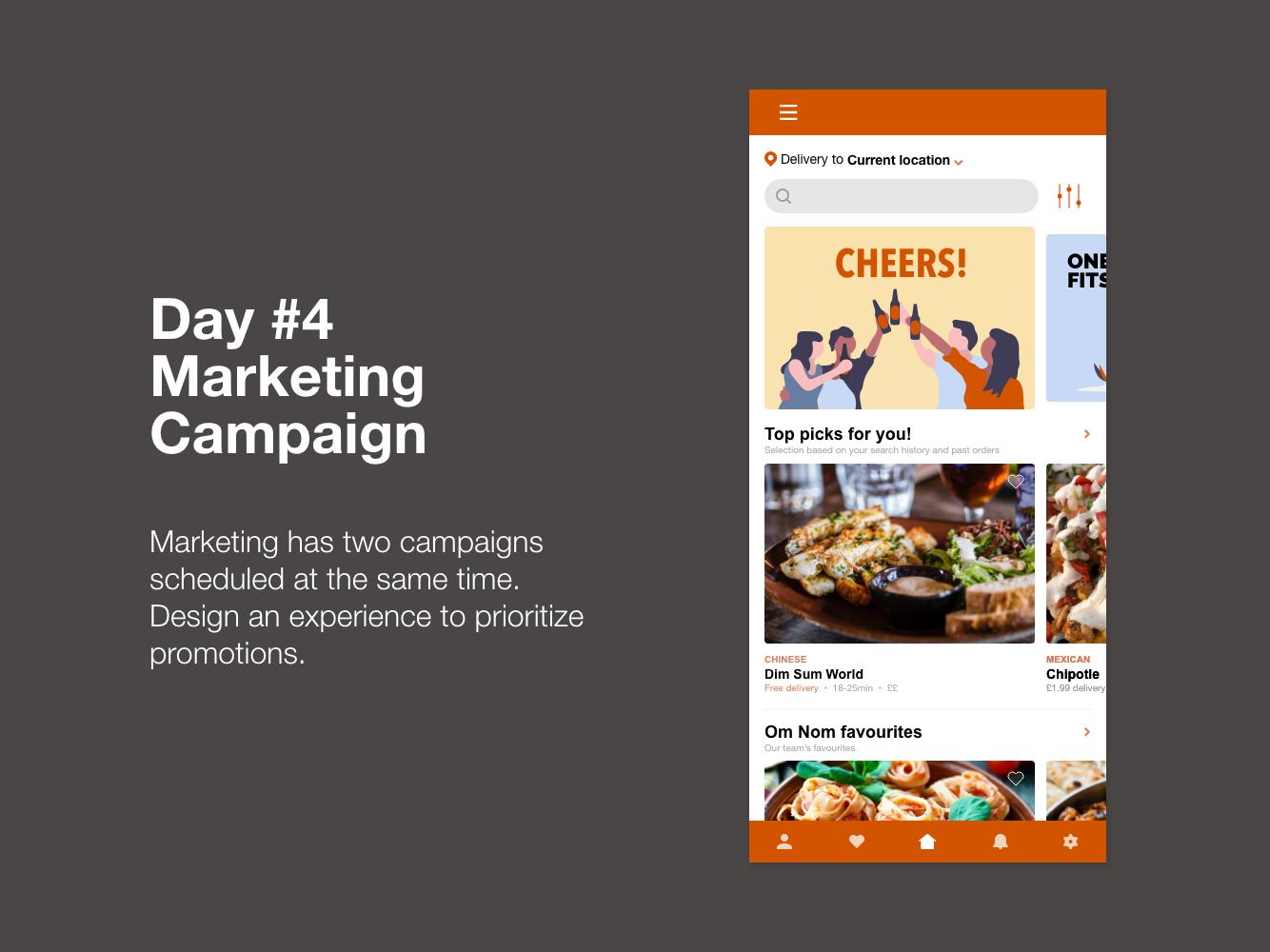 Om Nom: Day 4 ux ui ux design food design daily creative challenge app design adobe xd challenge adobe xd