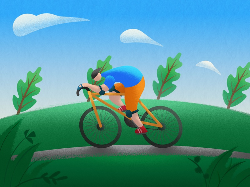 Steep Hills Ahead 🚴♀️ web illustration digital artwork vector graphic character design illustrator art digital illustration vector artwork vector artist vector illustration