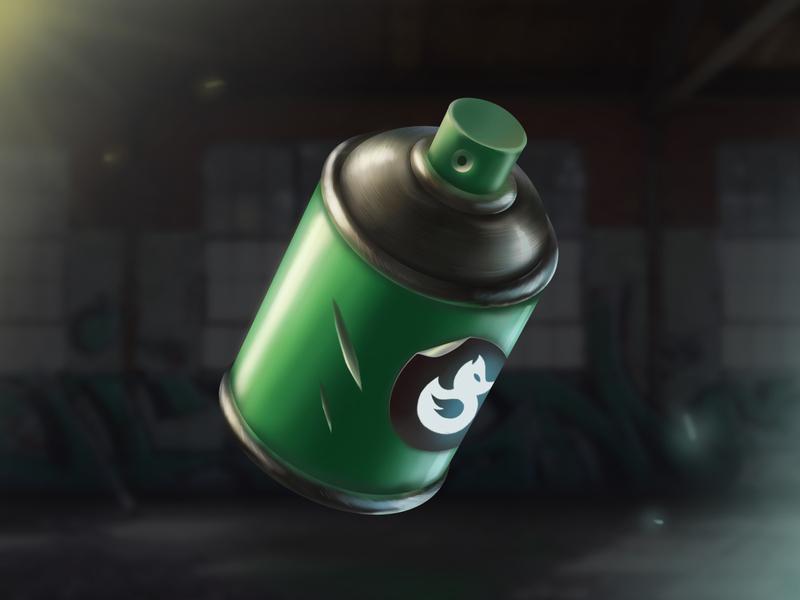Hooligan's Spray Paint 🎨 game props concept art game asset icon design game icon 2d art game art digital illustration