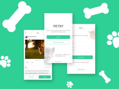 Petsy - Pet Adoption App