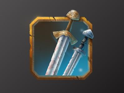 Jarl and Thegn Swords digital art icon design game icon game design digital illustration game art game asset