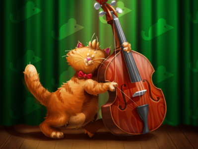 Jazzy Cats 🎷 digital illustrator game design digital illustration