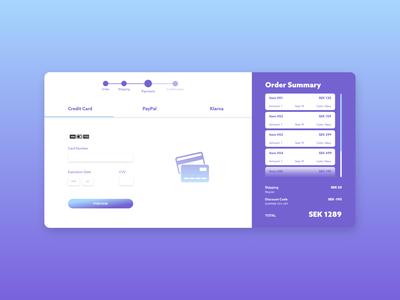 Daily UI #002 Credit Card Checkout ui ux ux design ui design daily ui 002 daily ui