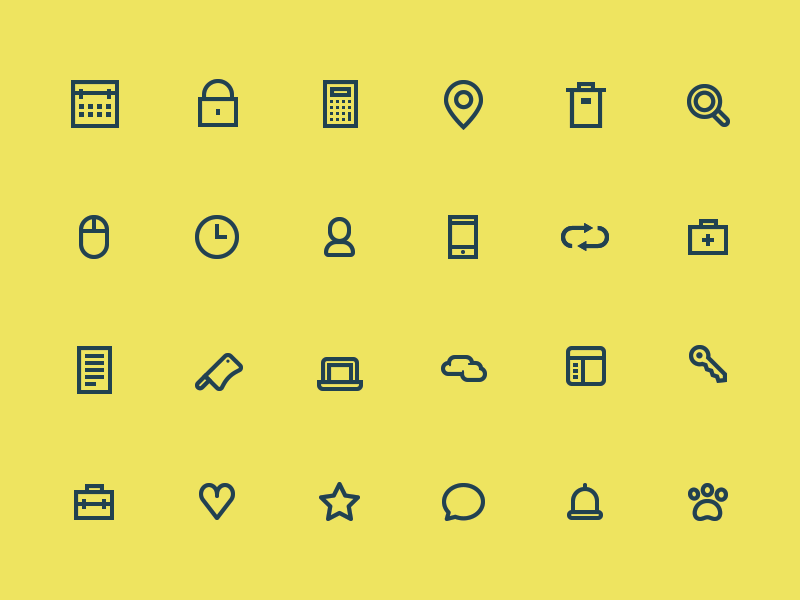 [PSD] 24 Icons icons download psd