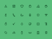 Cleaning icons  large
