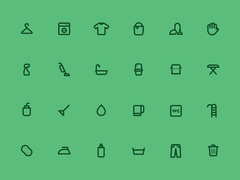 [PSD] 24 Cleaning Icons cleaning icons