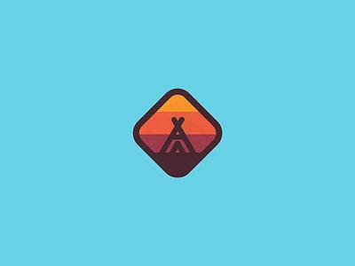 Camping badge camping badge